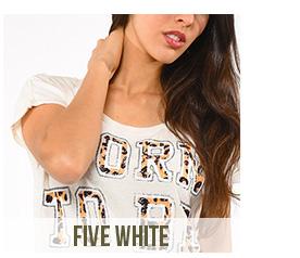 t-shirt femme five white